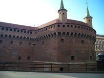 Barbakan w staromiejskim Krakow blisko Targowego kwadrata, fotografia stock