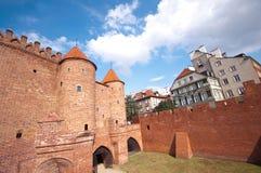 Barbakan, Warsaw, Poland Stock Image