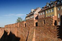 Barbakan in Warshau, Polen Royalty-vrije Stock Foto's