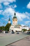 Barbakanu miasteczka kasztel, Banska Bystrica Zdjęcie Stock