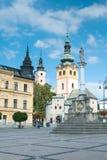 Barbakanu miasteczka kasztel, Banska Bystrica Zdjęcia Stock