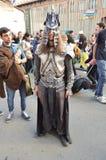Barbar- krigare på Lucca komiker och lekar 2014 Royaltyfria Bilder