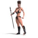 barbar- sexig fantasikvinnlig Fotografering för Bildbyråer