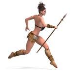 barbar- sexig fantasikvinnlig Arkivbild