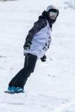 Barbara Almeida durante i campionati del cittadino dello snowboard Fotografia Stock Libera da Diritti