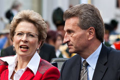 Barbara Bosch et Guenther Oettinger Image stock