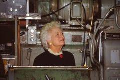 Barbara Bush, Presidentsvrouw stock afbeeldingen