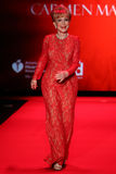 Barbara Eden walks the runway at the Go Red For Women Red Dress Collection 2015 Royalty Free Stock Image