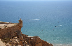 Barbara Fortress in Alicante Royalty Free Stock Photography