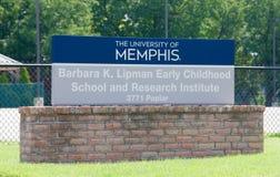 Barbara K Lipman mitt på universitetet av Memphis royaltyfria foton
