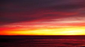 barbara santa solnedgång Arkivfoto