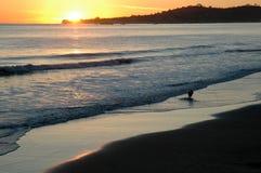 barbara santa solnedgång Royaltyfri Foto