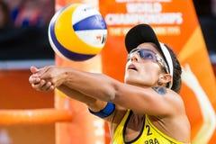 Barbara Seixas De Freitas-het volleyball van het wereldbekerstrand Royalty-vrije Stock Afbeeldingen