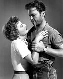 Barbara Stanwyck and Ralph Meeker Stock Images