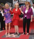 Barbara Walters, Vreugde Behar, de Mening stock fotografie