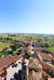 Barbaresco town aerial view, Langhe, Italy Royalty Free Stock Photo