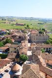 Barbaresco town aerial view, Langhe, Italy Royalty Free Stock Photography