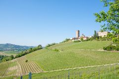 Barbaresco town view, Langhe, Italy Royalty Free Stock Image
