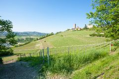 Barbaresco town view, Langhe, Italy Stock Photography