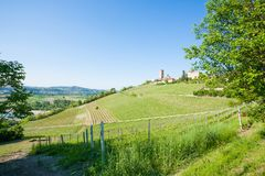 Barbaresco town view, Langhe, Italy Stock Photo