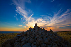 Barbaria Berberia Cape stone mountain in Formentera Stock Photography