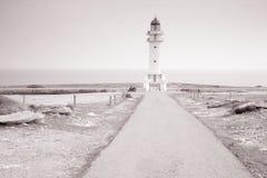 Barbaria Cape Lighthouse; Formentera; Balearic Islands; Spain Stock Photo