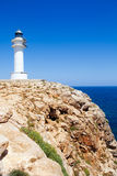 Barbaria Cape lighthouse in formentera island. Barbaria Cape Lighthouse in formentera Balearic island in Mediterranean royalty free stock photo