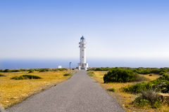 Barbaria Lighthouse Formentera Balearic Island Stock Photos