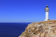 Barbaria lighthouse formentera Balearic islands Royalty Free Stock Photos