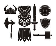 Barbarian equipment - pictogram Stock Photography