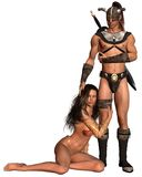 Barbarian Fantasy Couple Royalty Free Stock Photo