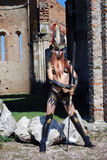 Barbarian girl stock images