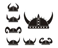 Barbarian helmet - pictogram Stock Images