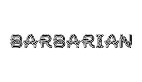 Barbarian logo lettering Celtic font. norse medieval ornament AB Royalty Free Stock Photo