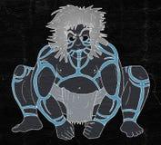 Barbarian primate man draw. Design of barbarian primate man draw Stock Photo