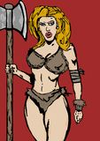 Barbarian woman. Image of a barbarian woman Royalty Free Stock Images