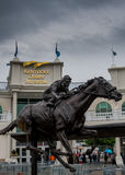 Barbaro Statue and Kentucky Derby Museum. May 4, 2017: Louisville, Kentucky: Barbaro Statue and Kentucky Derby Museum royalty free stock images