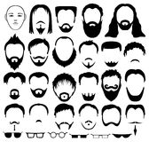 Barbe, cheveux et verres Images libres de droits