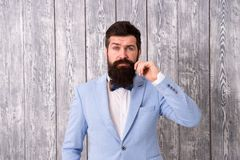 Barbe et moustache Barber Shop Concept La gamme d'offre de salon de coiffure des paquets pour le marié rendent son grand jour ino images stock