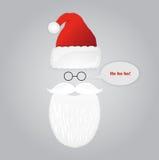Barbe, verres et chapeau de Santa Vacances de Noël illustration libre de droits