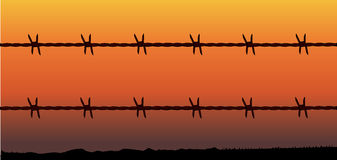 Barbe Wire Fence Royalty Free Stock Photography