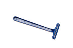 Barbeador masculino azul isolado no whit Imagem de Stock