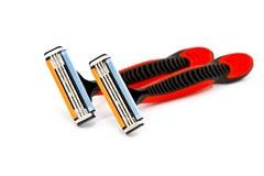 Barbeando a lâmina isolada em um fundo branco Imagem de Stock