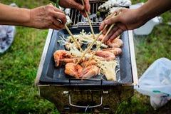 Barbecue à l'extérieur Photographie stock