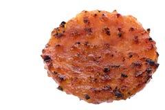 barbecue зажженная монетка цыпленка изолированной стоковое изображение rf