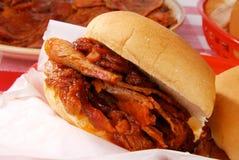 barbecue сандвич говядины Стоковые Изображения RF
