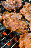 Barbecue. A nice grill barbecue with delicious meat Royalty Free Stock Photography