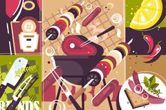 Barbecue abstract background Royalty Free Stock Images