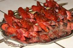 barbecue Alimento em um prato imagem de stock