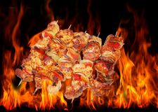 Barbecue And Fire Royalty Free Stock Images